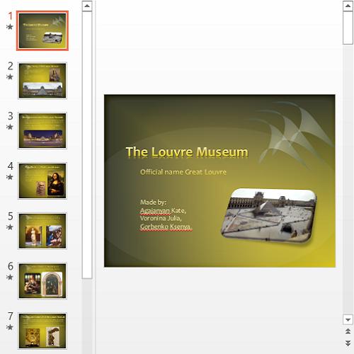 Презентация Лувр