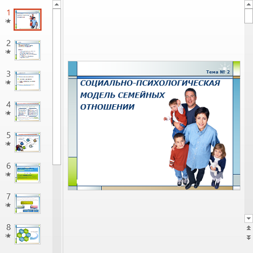 Презентация Модель семьи