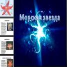 Презентация Морская звезда