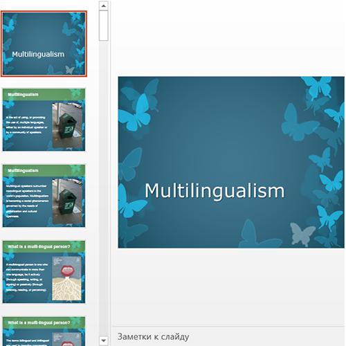 Презентация Multilingualism