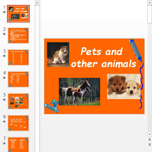 Презентация Pets and other animals