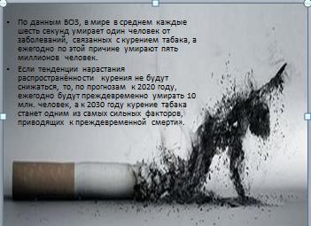 Презентация Последствия табакокурения