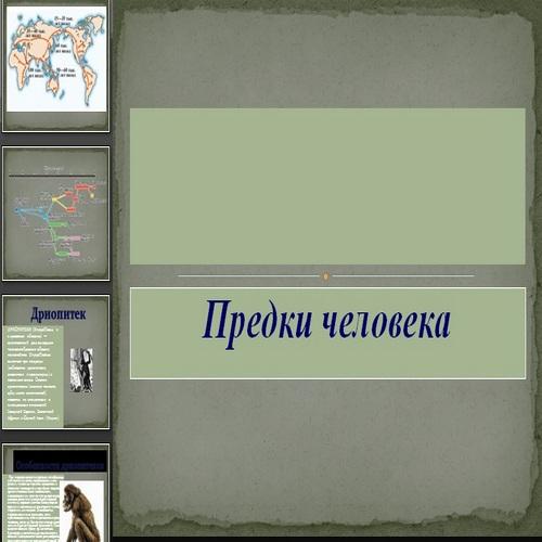 Презентация Предки человека