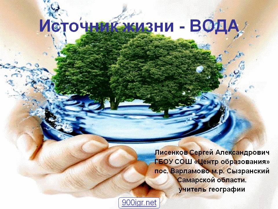 Презентация День воды