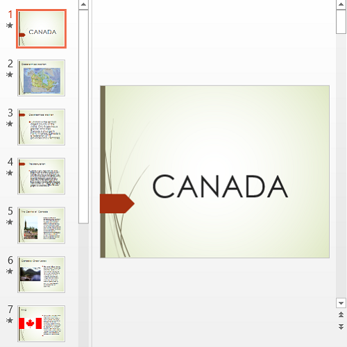 Презентация  About Canada