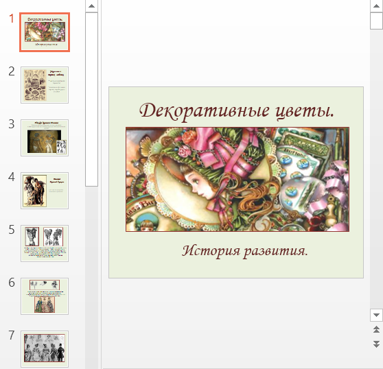 Презентация Декоративные цветы