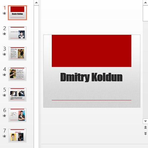Презентация Дмитрий Колдун