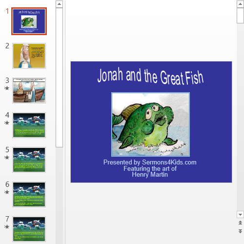 Презентация Jonah and the Great Fish