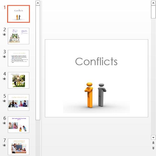Презентация Конфликты на английском языке
