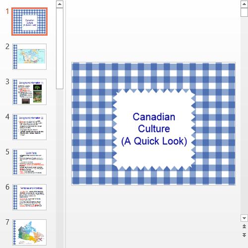 Презентация Культура Канады на английском