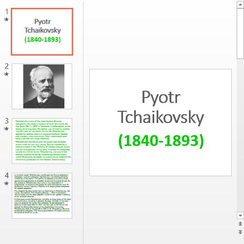 Презентация Петр Чайковский