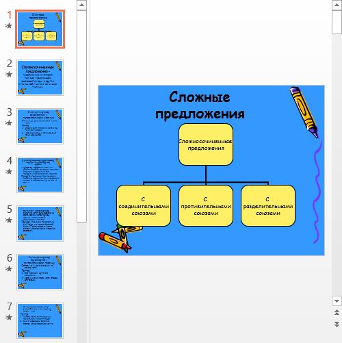 Презентация Сложные предложения в русском языке