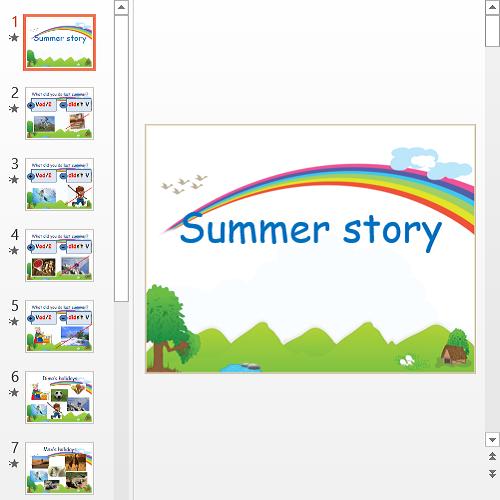 Презентация Рассказ про лето на английском