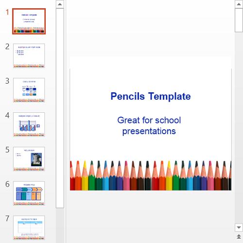 Презентация Pencils template