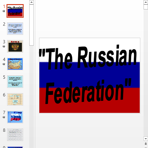Презентация The Russian Federation