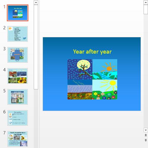 Презентация Year after year
