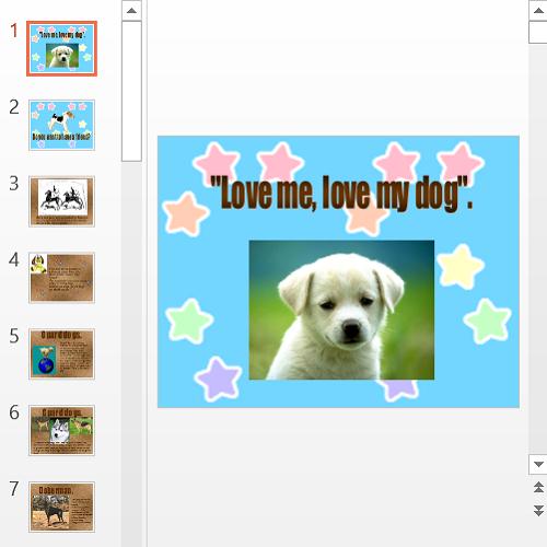 Презентация A dog