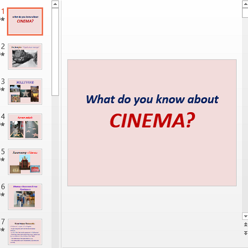 Презентация What do you know about Cinema