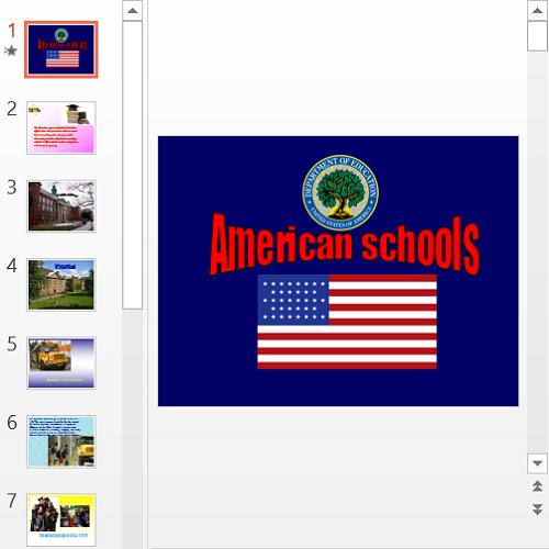 Презентация American schools