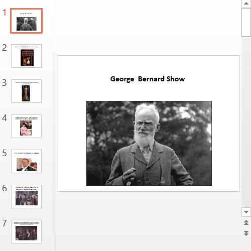 Презентация George Bernard Show