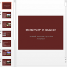 Презентация British system of education