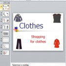 Презентация Shopping  for clothes