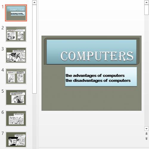 Презентация Computers