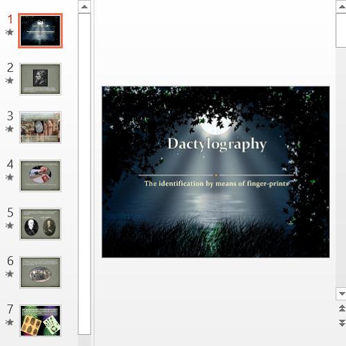 Презентация Dactylografy