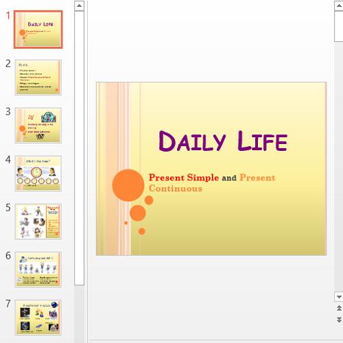 Презентация Daily Life