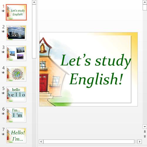 Презентация Study English