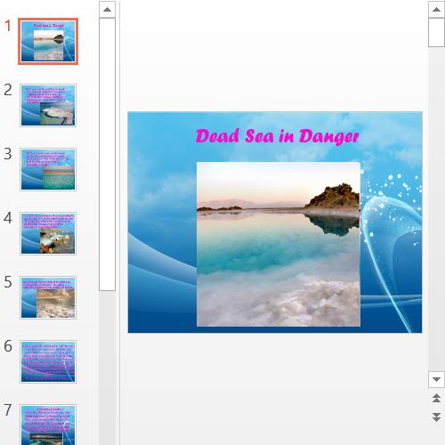 Презентация Dead Sea in Danger