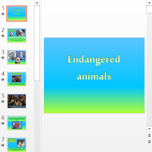 Презентация Endangered animals