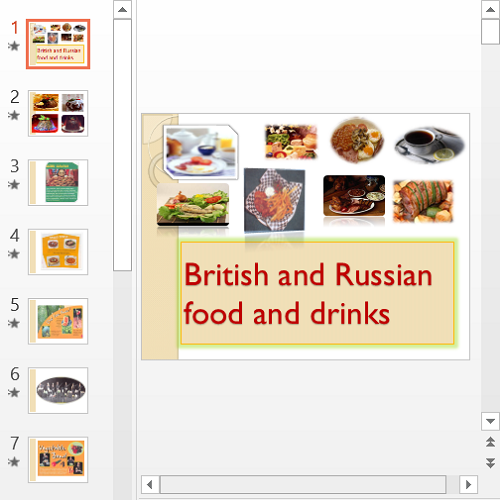 Презентация British and Russian food and drinks