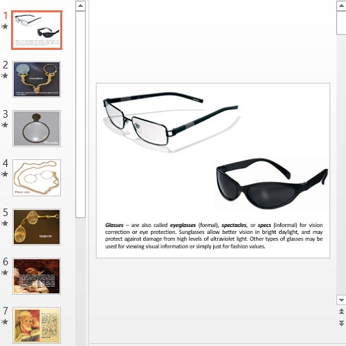 Презентация Glasses