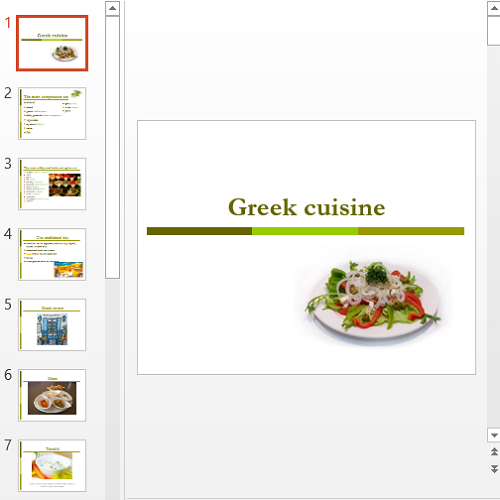 Презентация Greek cuisine