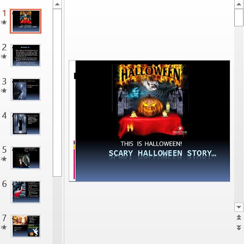 Презентация Scary Halloween Story
