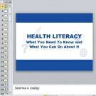Презентация Health literacy