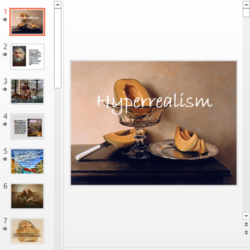 Презентация Hyperrealism
