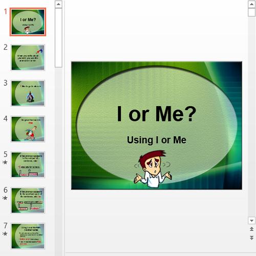 Презентация I or Me