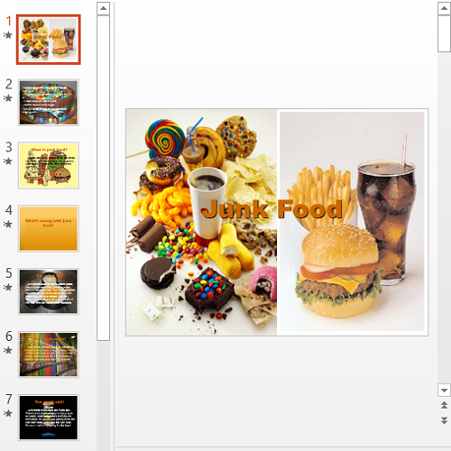Презентация Junk Food