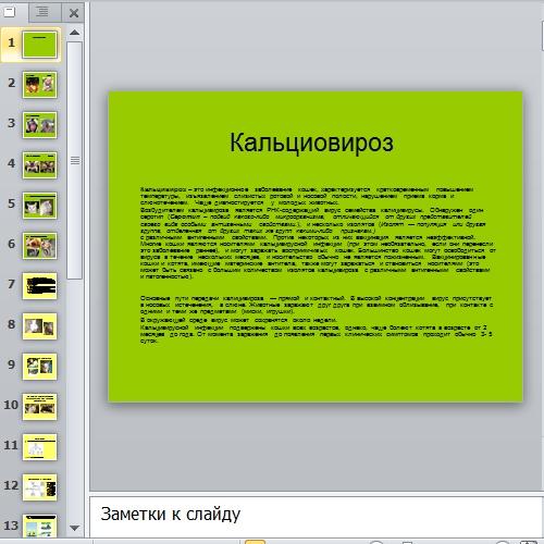 Презентация Кальциовироз