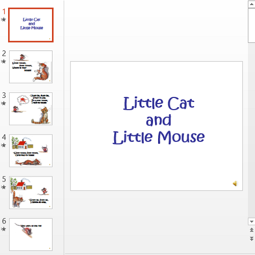 Презентация Little Cat and Little Mouse