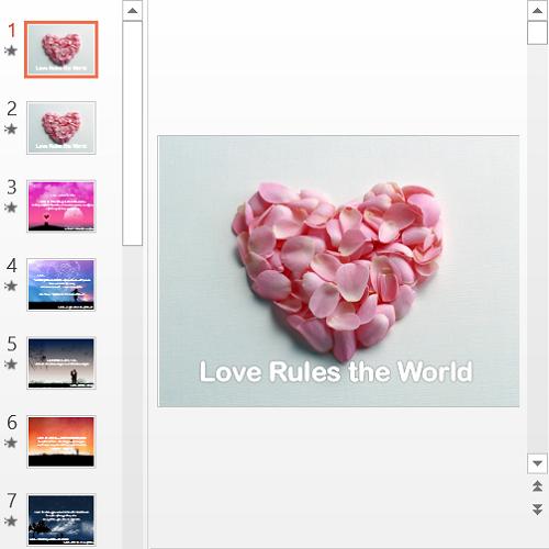 Презентация Love Rules the World