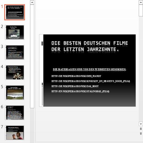 Презентация Лучшие немецкие фильмы