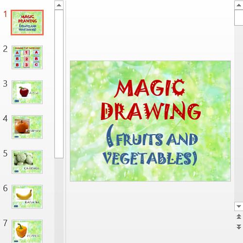 Презентация Названия фруктов и овощей в английском