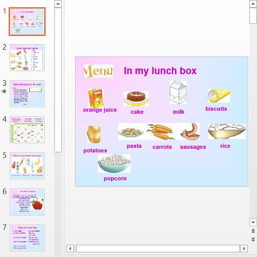 Презентация In my lunch box