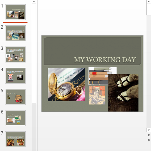 Презентация My Working Day