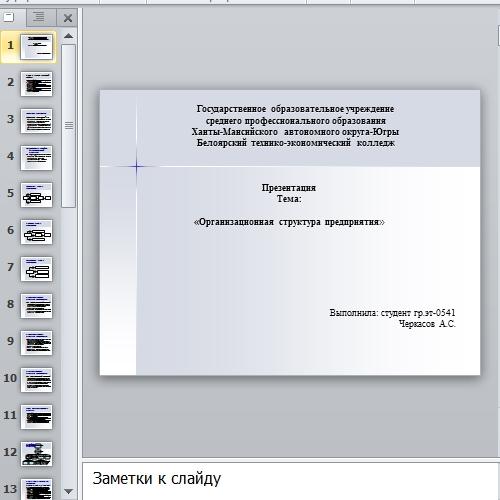 Презентация Организационная структура предприятия