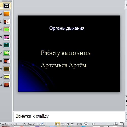 Презентация Органы дыхания
