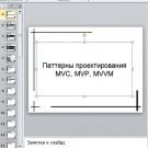 Презентация Паттерны проектирования MVC MVP MVVM